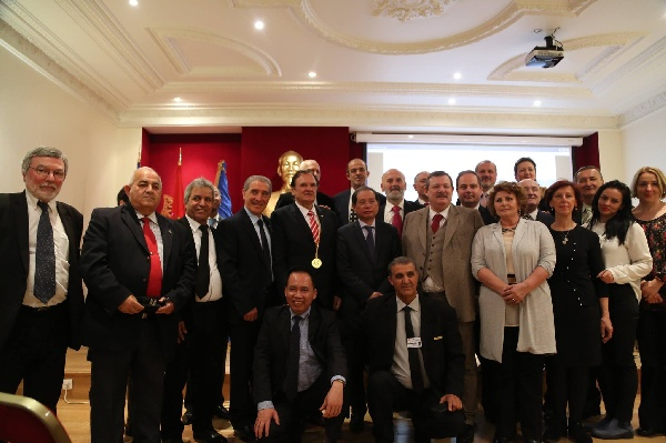 I.G.F. PRESIDENT, PROF.DR. DOREL COSMA, AT PARIS WITH THE EXECUTIVE BUREAU