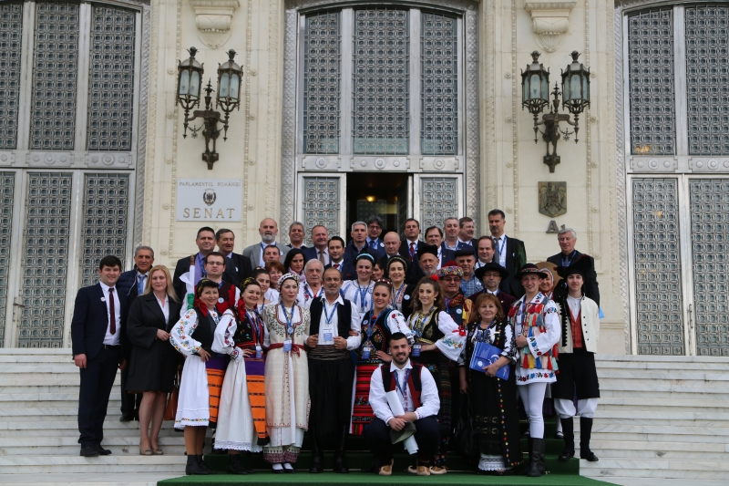 WORLD FOLKLORE UNION FOR THE FIRST TIME IN THE ROMANIAN PARLIAMENT