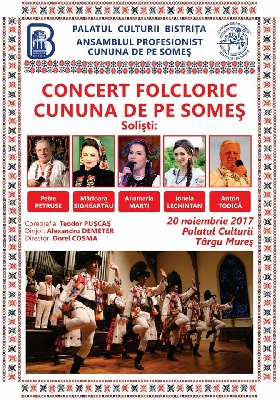 """CUNUNA DE PE SOMEȘ"" AT INTERNATIONAL FESTIVAL ""PETRE SĂBĂDEANU"" - TÂRGU MUREȘ, ROMANIA"